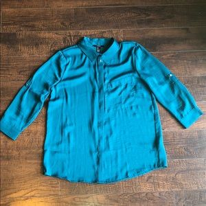 Forever 21 Teal Button Down